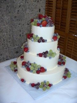 Frosted Fruit Wedding Cake