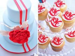 British Invasion Bridal Brunch cake