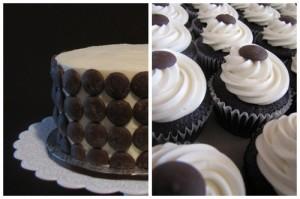 Dot cupcakes
