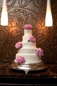 Addy B Pink Peony White Cake