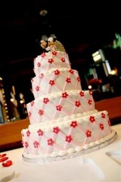 Lattice Mickey Minnie Wedding Cake