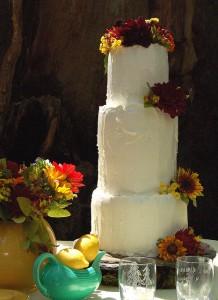 Rustic Autumn Wedding Cake