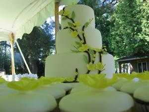 Yellow Wedding Cake