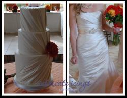 dress ruching cake