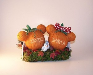 Mickey Pumpkin cake toppers