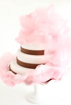 Pink Vanilla Cotton Candy Cake
