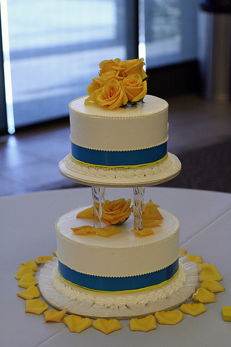 light blue and yellow wedding cakes light blue and yellow wedding cakes a wedding cake 16852