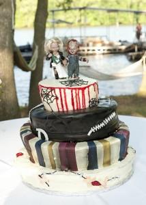Jennifer & JD Wedding Cake