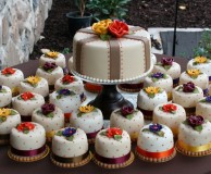 fall mini cakes