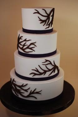 Bare Branches Wedding Cake