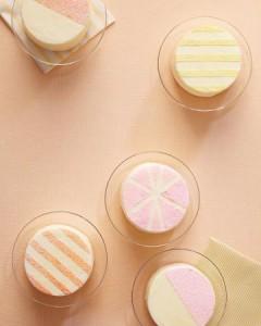 glitter dust mini cakes