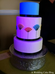 Blue Minimalist Cake