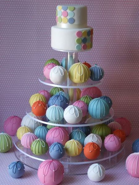 Rainbow Cake Ball Wedding