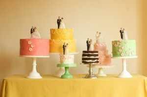 Multiple Vintage Bride and Groom Cake Toppers