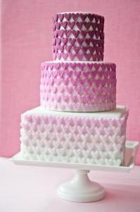Ombre Sugar Hearts Cake