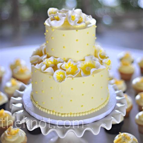 Simple wedding cakes a wedding cake blog part 26 yellow abstract flower wedding cake mightylinksfo