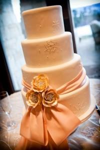 Crystal and Pink Snowflake Cake
