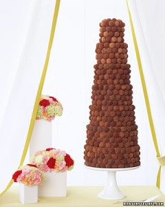 Chocolate Truffle Wedding Cake