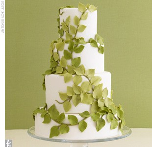 wedding cake with green leaves green leaves wedding cake a wedding cake 26903