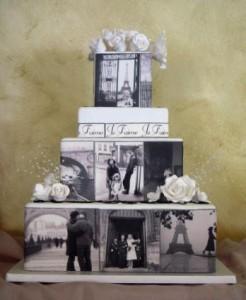Romance in Paris Wedding Cake