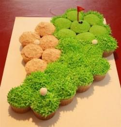 Cupcake cluster golf green