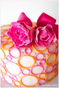 Pink and Yellow Bubble Cake