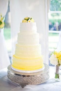 Yellow Ombre Wedding Cake