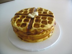 waffle grooms cake