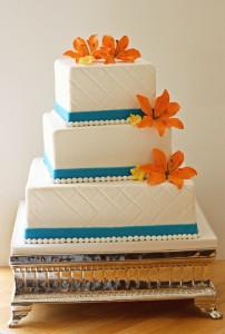 Orange tiger lily cake