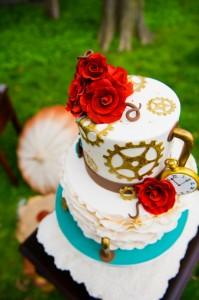 steampunk wedding cake 2