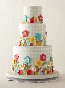 Gingham Wedding Cake