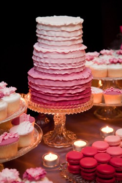 Pink Ombre Sweets Table