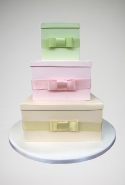 Satin Bow Wedding Cake