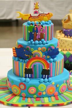 Yellow Submarine Wedding Cake