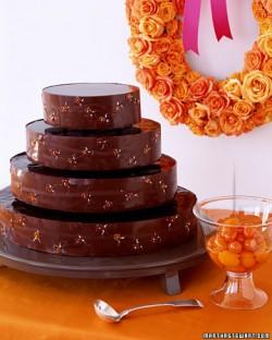 chocolate kumquat cake