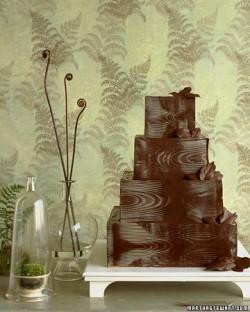 chocolate wooden box cake