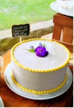 guiness chocolate wedding cake with bailey's
