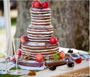 Rustic Apple Wedding Cake