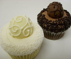 chocolate truffle wedding cupcakes