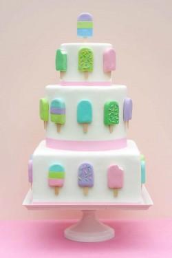 ice cream pop wedding cake