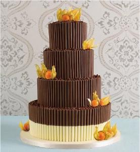 Chocolate Cigarette Wedding Cake
