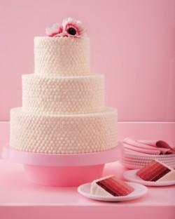 Ombre Red Velvet Wedding Cake