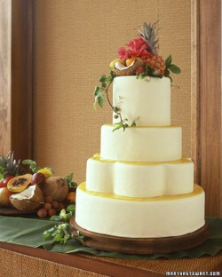Tropical Inspired Wedding Cake
