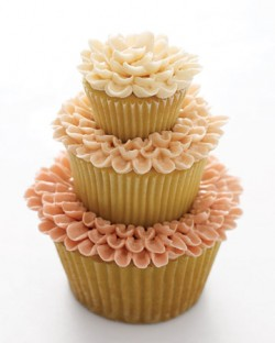 tiered cupcake