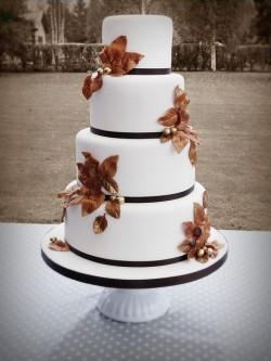 Fall Gold Leaf Cake