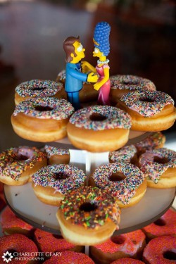 Simpsons and Donuts Grooms Cake