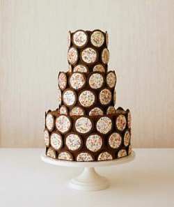 chocolate cookie wedding cake