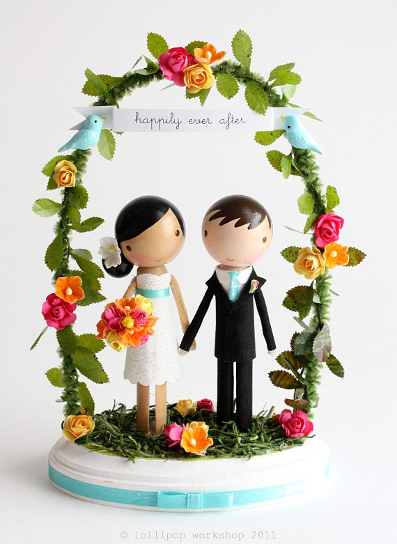 Caketopper Friday Sweet Bride And Groom Under An Arch A
