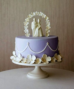 white traditional cake topper