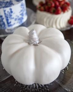 Silver and White Pumpkin Cake